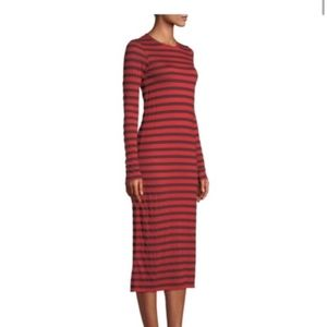 NWT CURRENT/ELLIOTT Breton Stripe Midi Dress 0